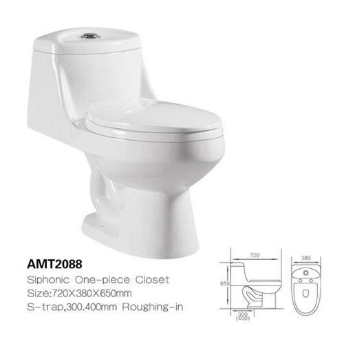 GENERAL - UNITILE SANITARIO T ALTO AMT 2088 BLANCO BRILLO